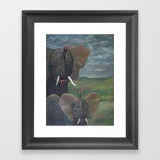Elephant Love-My Lumfalumfs Framed Art Print