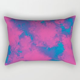 Cotton Candy Acid Trip Rectangular Pillow