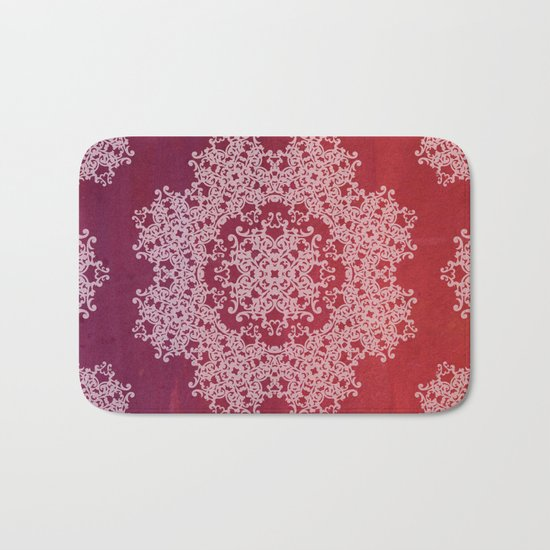 Playing with a lace - dresser from Grandma Bath Mat