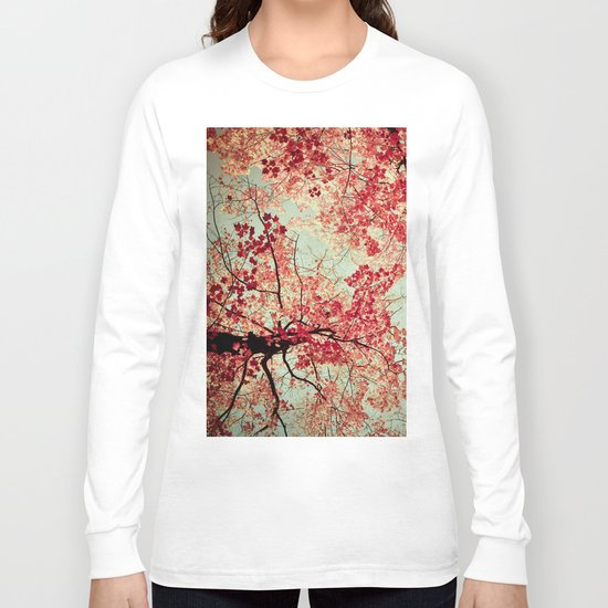 Autumn Inkblot - Yellow Long Sleeve T-shirt