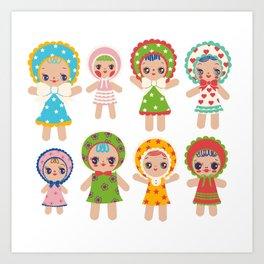 Bunka Dolls Art Print