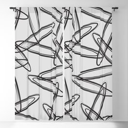 color field - black and grey Blackout Curtain