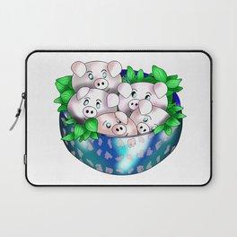 cute piggy dumplings Laptop Sleeve