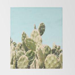 Cactus Summer Throw Blanket