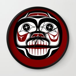 Northwest Pacific coast Haida Weeping skull Wall Clock