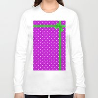 bow Long Sleeve T-shirts featuring Green bow by I AmErika