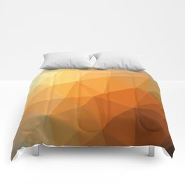 Shades Of Orange Triangle Abstract Comforters