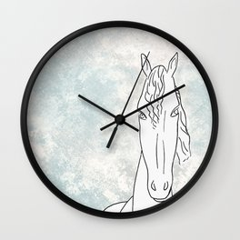 Homage to horse Wall Clock