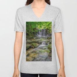Clywedog Waterfall Unisex V-Neck