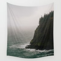 oregon Wall Tapestries featuring Oregon Coast: IV // Oregon by Corrie Mick