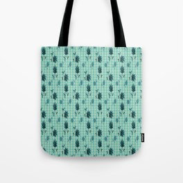 country blue flowers pattern Tote Bag