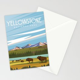 Yellowtone national park vintage travel poster Stationery Cards