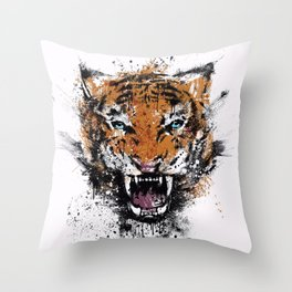 Unrelenting Ire Throw Pillow