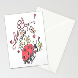 """Love Bug"" Stationery Cards"