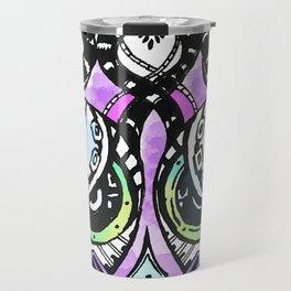 Robots vs Dodo - Festival - Colorful - Art by Lana Chromium Travel Mug