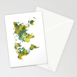 World Map 2040 Stationery Cards