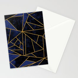 Blue and Gold Geometric House Colours Stationery Cards