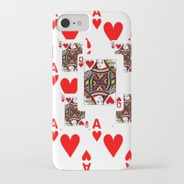 RED QUEEN OF HEARTS  & ACES PLAYING CARDS ARTWORK iPhone Case