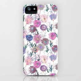 Gillian Floral White iPhone Case