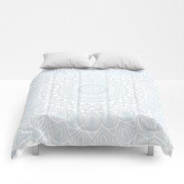 Minimal Minimalistic Light Cool Gray Mandala Comforters