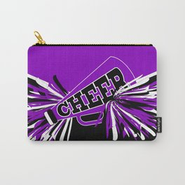 Purple, Black and White Cheerleader Design Carry-All Pouch