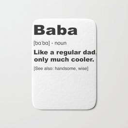 Mens Baba Albanian Dad Definition Shirt Funny Fathers Day Gifts Premium T-Shirt Bath Mat