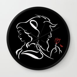 Beauty And Beast BW Wall Clock