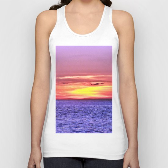 Saturated Sunset Delight Unisex Tank Top
