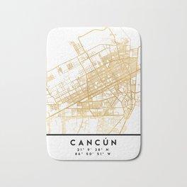 CANCUN MEXICO CITY STREET MAP ART Bath Mat