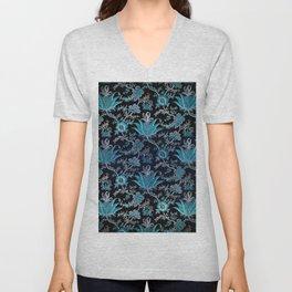 Floral Fabric Vintage Gift Pattern #8 Unisex V-Neck