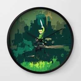 Legend Of Zelda Link Painting Art Wall Clock