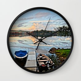 Another Day on the Lake Wall Clock