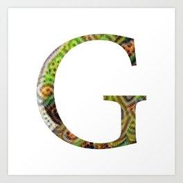 """Initial letter """"G"""" Art Print"""