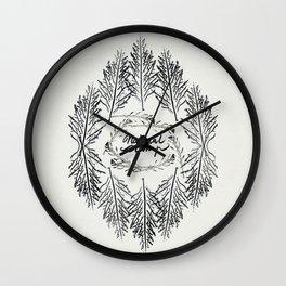 Natural Stamp Wall Clock