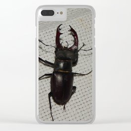Large beetle stag beetle insects Clear iPhone Case