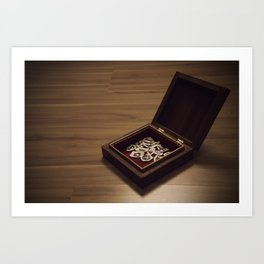 heart in a box Art Print