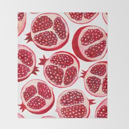 Pomegranate pattern Throw Blanket