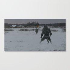 hunting at night Canvas Print