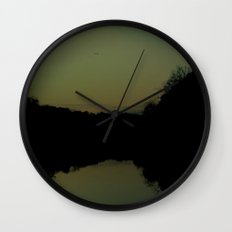 soaring at dusk Wall Clock