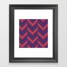 Pixelated Chevron Framed Art Print