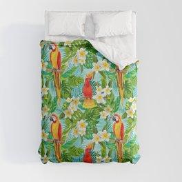 Tropical Parrot Chillin Comforters