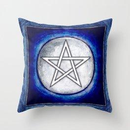 Moon Pentagram Throw Pillow