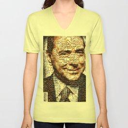 BEHIND THE FACE. Berlusconi | animals' bunga bunga Unisex V-Neck
