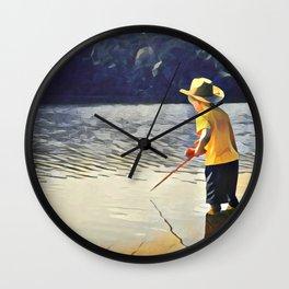 Gone Fishin' Wall Clock