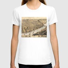 Vintage Pictorial Map of Kansas City (1869) T-shirt