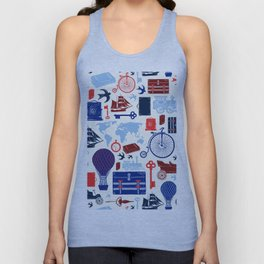 All Aboard to Explore Our Marvelous World - Vintage Travel from the Victorian Era Unisex Tank Top