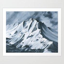 Grey Mountain Art Print