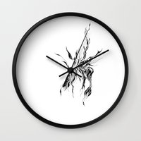 hydra Wall Clocks featuring Hydra by Cloudery
