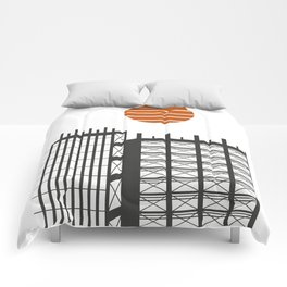 City in construction Comforters