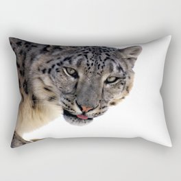 Léopard des neiges Rectangular Pillow